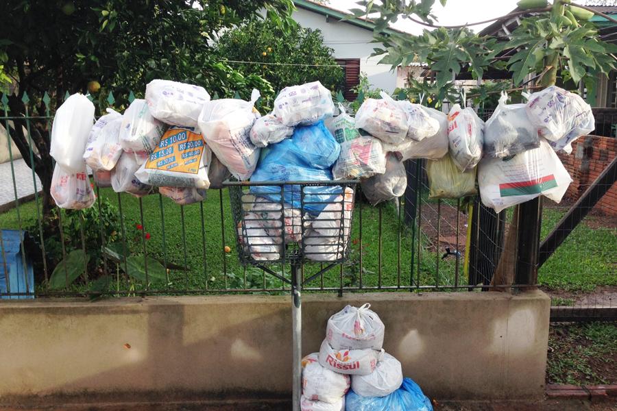 Resíduos comuns e os desperdícios.